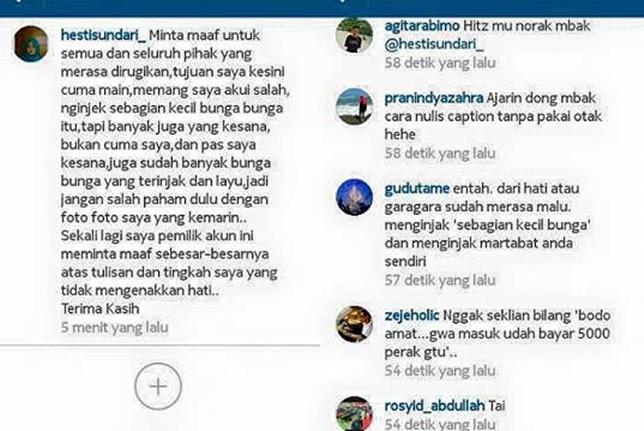 instagram-hestisundari_-suka-suka-gue-dong-penginjak-taman-bunga-amarillys-di-pathuk-gunungkidul-minta-maaf-pertamax7-com