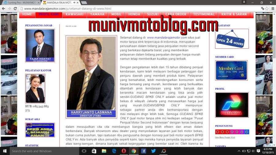 Tolong Sebarkan Website Penipu Jual Beli Motor Online Www