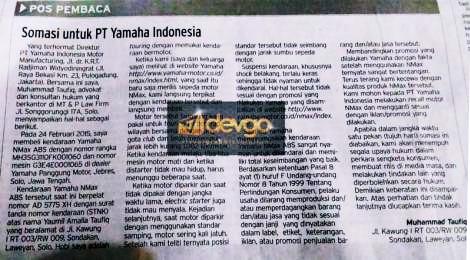 Konsumen-NMax-Somasi-Yamaha-Indonesia-karena-Motor-Mati-Mendadak-Sok-Keras-Motor-Sering-Ambruk-Kala-Standar-Samping-di-Surat-Kabar-solopos