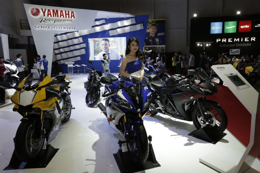 Booth Yamaha di Indonesia International Motor Show 2017