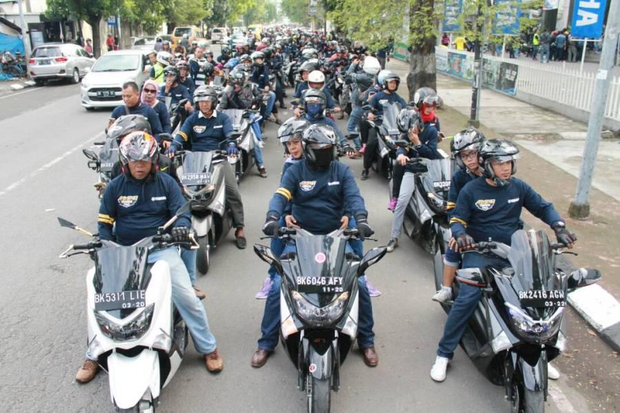 Peserta #MAXIYAMAHADAY saat persiapan dan touring di Medan (3)
