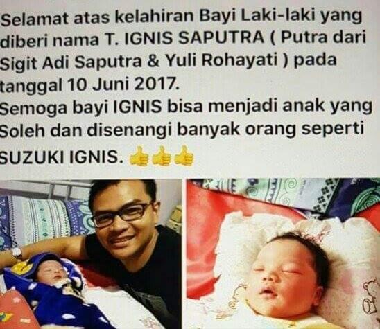 bayi bernama suzuki ignis