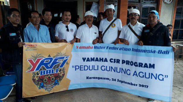 Yamaha Salurkan Bantuan untuk Pengungsi Gunung Agung