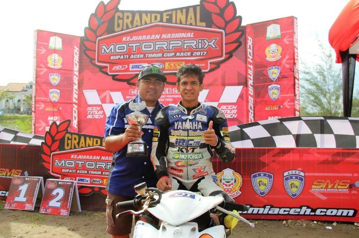 Rafid Topan juara Indonesia MP2 Motorprix 2017
