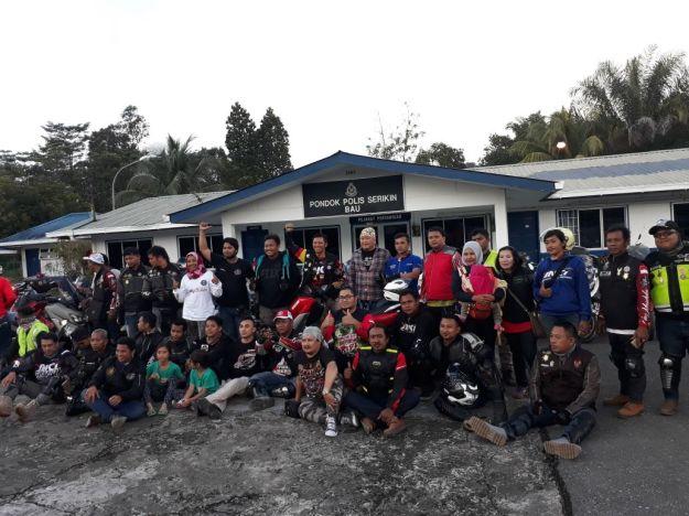 Yamaha NMAX Club Indonesia (YNCI) saat di Serikin Sarawak, Malaysia