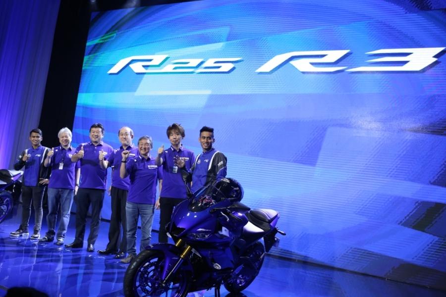 Launching New R3 dan R25 Bersama Hafizh Syahrin (MotoGP) dan Galang Hendra (WorldSSP300)
